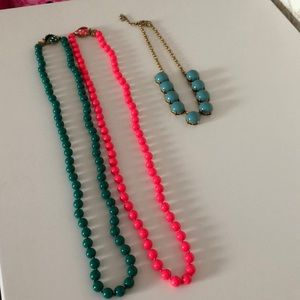 Oh so fun Lot of Three JCrew necklaces